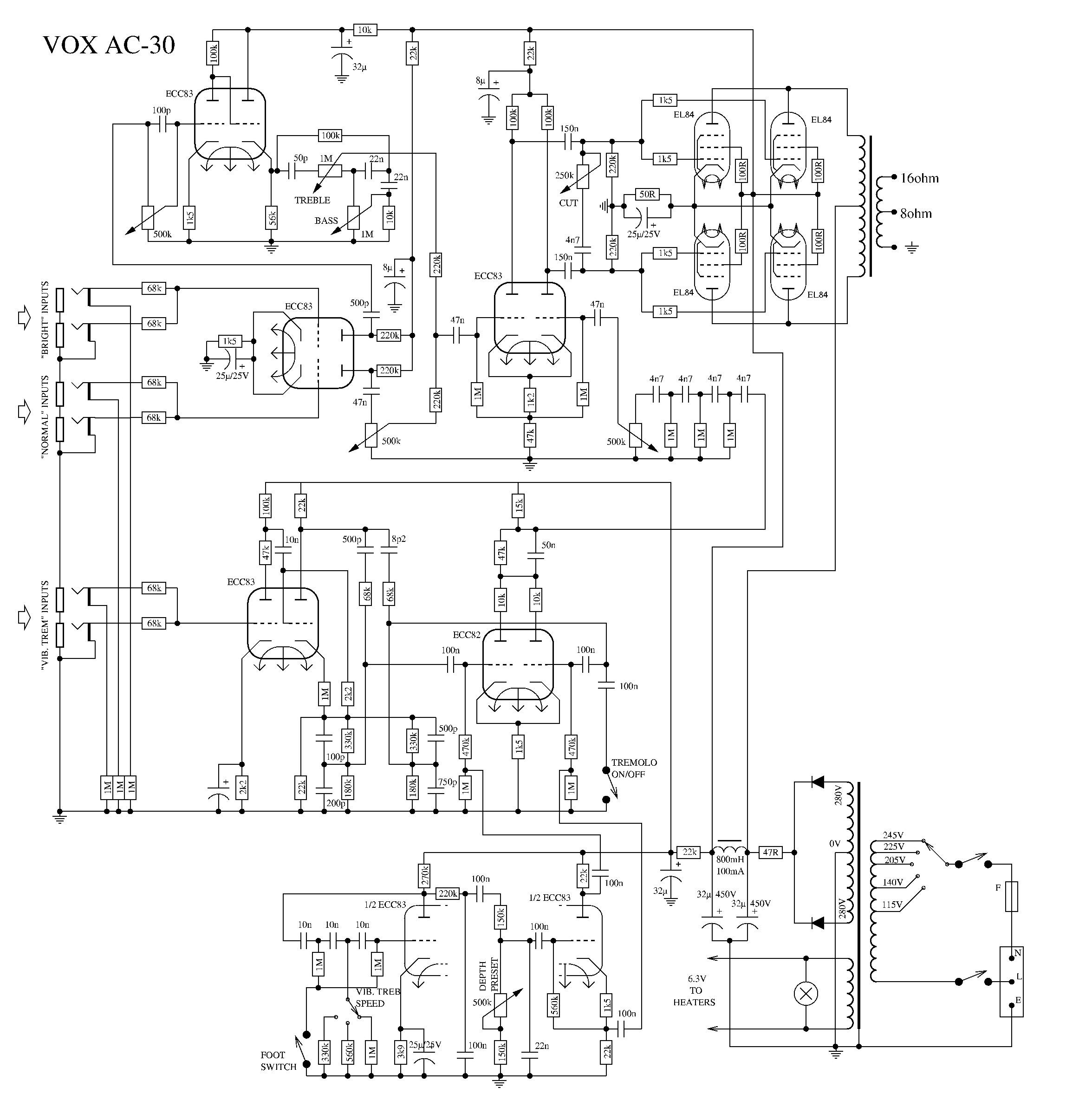 vox ac30 schematic dallas